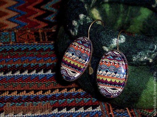 """Серьги ручной работы. Ярмарка Мастеров - ручная работа. Купить Серьги """"Mexico"""". Handmade. Мексиканские узоры, полосы, под сарафан"""