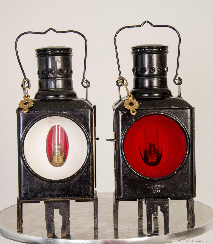 Винтаж: Фонари железнодорожные керосиновые два цвета свечения 1966 г, Предметы интерьера винтажные, Венло,  Фото №1