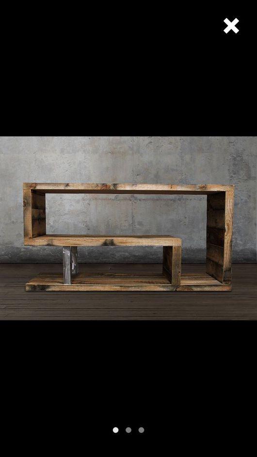 Мебель ручной работы. Ярмарка Мастеров - ручная работа. Купить Loft консоль из массива. Handmade. Loft, лофт мебель, металл
