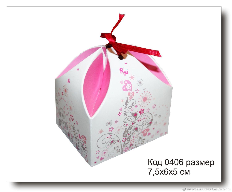 Код 0406 коробочка `сундучок` размер 7.5х6х5 см Закрывается при помощи завязочки (в комплект не входит).