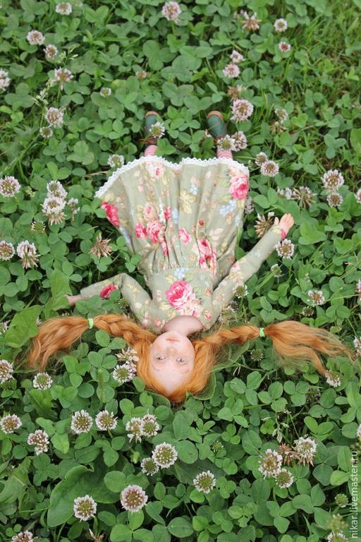 Коллекционные куклы ручной работы. Ярмарка Мастеров - ручная работа. Купить Кукла Алька. Handmade. Разноцветный, ника радюк, коза