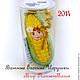 "Новый год 2017 ручной работы. Ярмарка Мастеров - ручная работа. Купить Ватная Ёлочная игрушка ""Царица Полей"", кукуруза. Handmade."