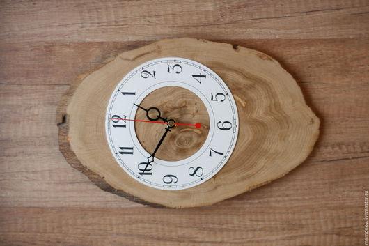 Часы для дома ручной работы. Ярмарка Мастеров - ручная работа. Купить часы на спиле. Handmade. Часы деревянные, подарок для мужчины