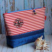 Сумки и аксессуары handmade. Livemaster - original item Cosmetic Bag Marine. Handmade.