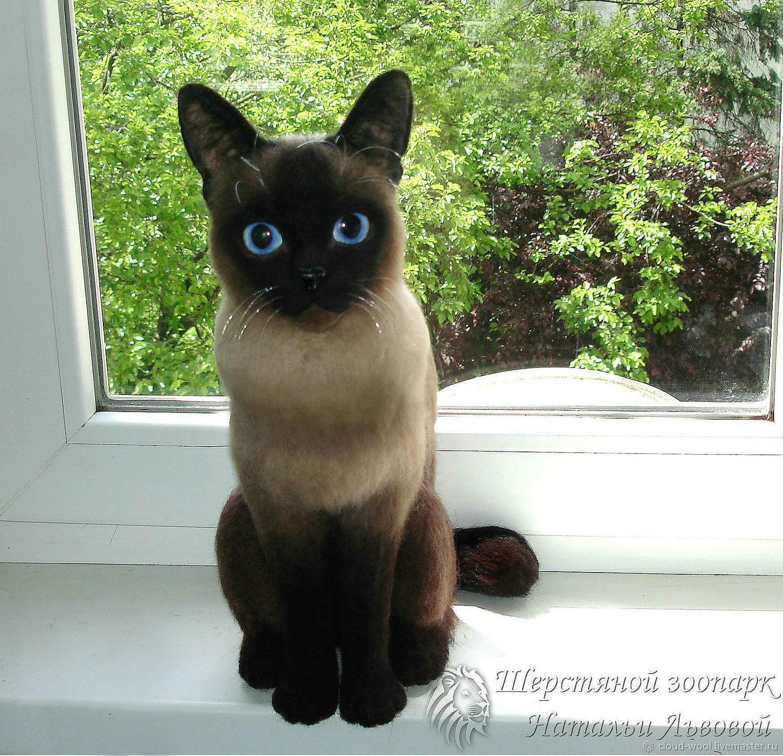 Кошечка Пуся по фотографии, валяная кошка с портретным сходством, Войлочная игрушка, Сочи,  Фото №1