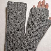 Аксессуары handmade. Livemaster - original item Fingerless gloves knitted long Milada, 21. Handmade.