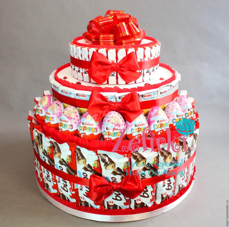 картинки с днем рождения торт из киндеров это