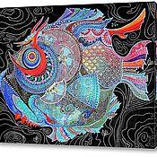 Картины и панно ручной работы. Ярмарка Мастеров - ручная работа Чудо-рыба. Handmade.