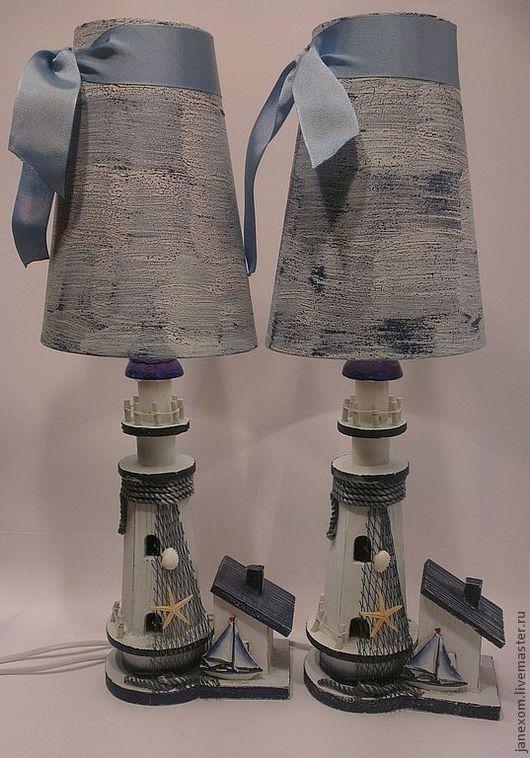 Освещение ручной работы. Ярмарка Мастеров - ручная работа. Купить Следуй на свет маяка. Handmade. Тёмно-синий, море-море
