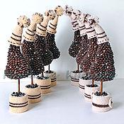 Подарки к праздникам ручной работы. Ярмарка Мастеров - ручная работа Елочки кофейные в шапочках. Handmade.