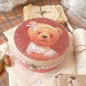 """Для дома и интерьера ручной работы. Ярмарка Мастеров - ручная работа шкатулка"""" Топтыжка-малышка"""". Handmade."""