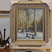 Картины и панно ручной работы. Ярмарка Мастеров - ручная работа Картина маслом, В старом парке. Handmade.