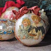 Сувениры и подарки handmade. Livemaster - original item Christmas decorations: A Victorian mood. Handmade.