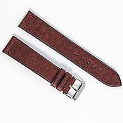 Украшения handmade. Livemaster - original item Burgundy Genuine leather strap. Handmade.