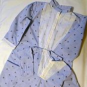 """Одежда ручной работы. Ярмарка Мастеров - ручная работа Платье-рубашка для мамы и рубашка для мальчика """"Французский шик"""". Handmade."""