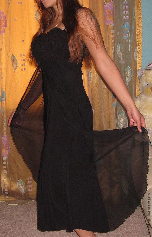 Платья ручной работы. Ярмарка Мастеров - ручная работа. Купить Вечернее платье длинное ,сарафан. Handmade. Платье вечернее