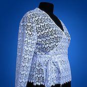 Блузки ручной работы. Ярмарка Мастеров - ручная работа Кружевная блузка с запахом. Handmade.