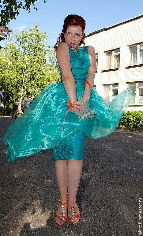 """Платья ручной работы. Ярмарка Мастеров - ручная работа. Купить Выпускное платье в стиле 50-х годов """"Изумрудная мечта"""". Handmade."""