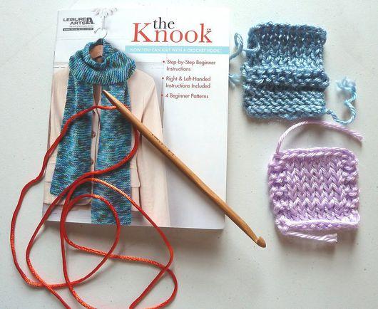 Вязание ручной работы. Ярмарка Мастеров - ручная работа. Купить Knitting hook for knooking. Handmade. Бежевый, крючок для нукинга