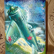 """Сувениры и подарки ручной работы. Ярмарка Мастеров - ручная работа Фляжка """"Все выше и выше, и выше"""". Handmade."""