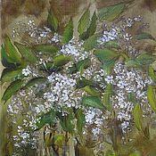 Картины и панно handmade. Livemaster - original item Cherry Painting is oil on canvas 24х30 cm. Handmade.