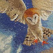 Картины и панно ручной работы. Ярмарка Мастеров - ручная работа Сова в полёте, вышитая картина. Handmade.