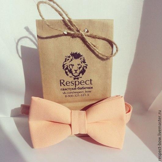 Галстуки, бабочки ручной работы. Ярмарка Мастеров - ручная работа. Купить Галстук бабочка Нежный персик / бабочка-галстук, персиковая свадьба. Handmade.