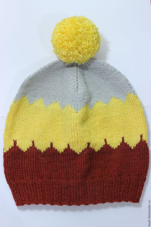 Шапки ручной работы. Ярмарка Мастеров - ручная работа. Купить вязаная шапка. Handmade. Разноцветный, абстрактный, шапка спицами