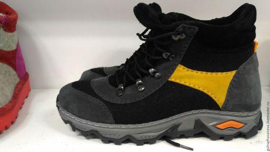 Обувь ручной работы. Ярмарка Мастеров - ручная работа. Купить Кроссовки из войлока. Handmade. Тёмно-синий, войлок