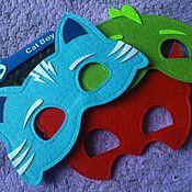 Работы для детей, ручной работы. Ярмарка Мастеров - ручная работа маски Пи джей маски (PJ Masks)/набор. Handmade.