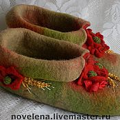 Обувь ручной работы. Ярмарка Мастеров - ручная работа Русское поле (полуваленочки). Handmade.