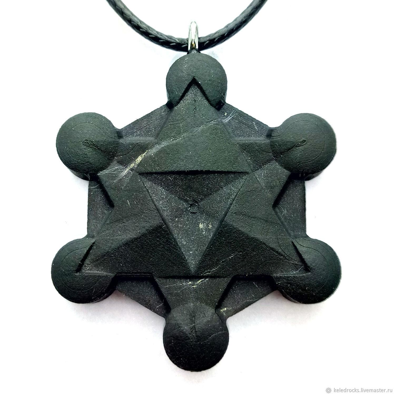 Metatron shaped pendant made of natural shungite, Pendants, Petrozavodsk,  Фото №1
