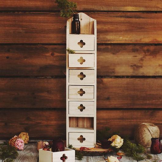 Декупаж и роспись ручной работы. Ярмарка Мастеров - ручная работа. Купить Комодик деревянный 9 х 8 х 40 см. Handmade.