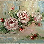 Картины и панно handmade. Livemaster - original item roses oil painting. Handmade.