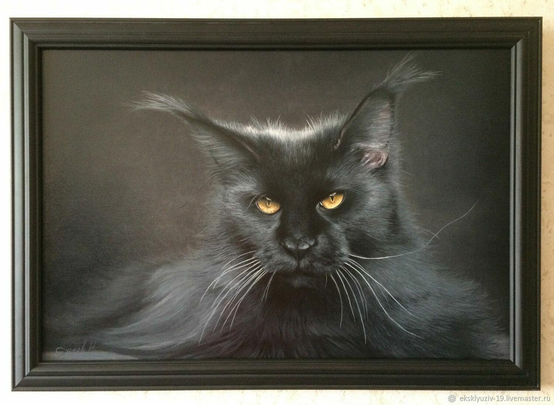 чёрный кот, Картины, Воронеж,  Фото №1