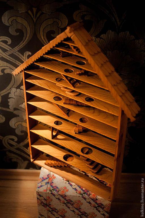 Комплекты аксессуаров ручной работы. Ярмарка Мастеров - ручная работа. Купить Домик для белок. Handmade. Витрина для игрушек, льняное масло