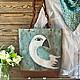 """Женские сумки ручной работы. Ярмарка Мастеров - ручная работа. Купить Авторская текстильная сумка """"Белая ворона"""". Handmade."""