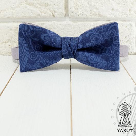 Галстуки, бабочки ручной работы. Ярмарка Мастеров - ручная работа. Купить Галстук бабочка Синий графит винтаж / бабочка-галстук. Handmade.