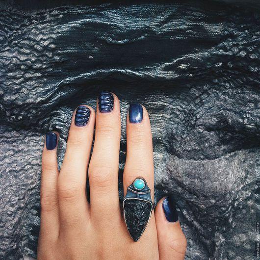 """Кольца ручной работы. Ярмарка Мастеров - ручная работа. Купить Гематит и бирюза кольцо """"Мексика"""". Handmade. Комбинированный, серебряное кольцо"""