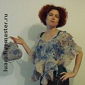 """Аксессуары ручной работы. Ярмарка Мастеров - ручная работа Комплект """"Цветы и голуби"""". Handmade."""