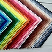 Материалы для творчества handmade. Livemaster - original item Set of hard Korean felt 40 colors Art. .1381. Handmade.