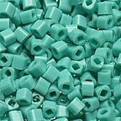 Материалы для творчества handmade. Livemaster - original item 10g 3 mm cube 55 turquoise Japanese beads TOHO opaque. Handmade.