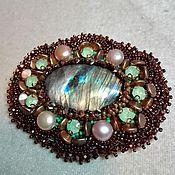 Украшения handmade. Livemaster - original item decoration of beads and stones. author`s brooch. bead embroidery. Handmade.