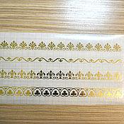 Штампы ручной работы. Ярмарка Мастеров - ручная работа Золотой стикер № 1179. Handmade.