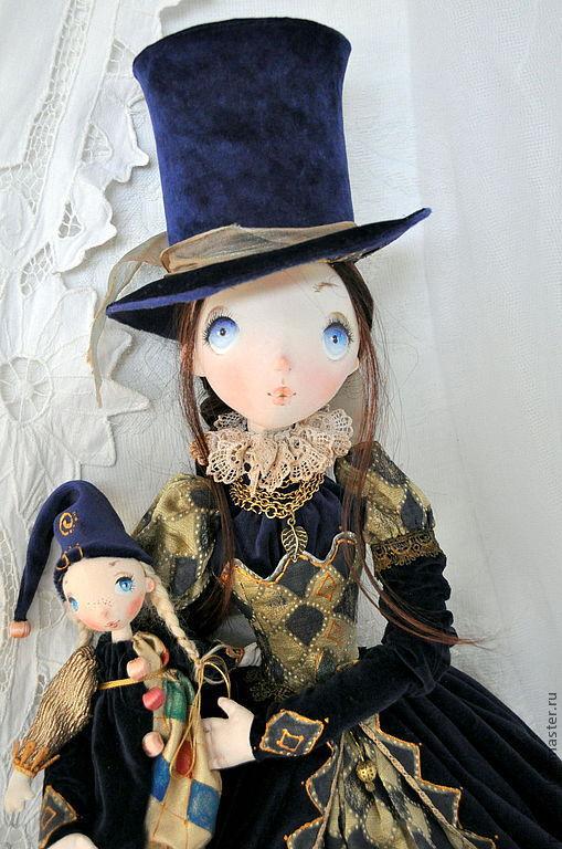 Коллекционные куклы ручной работы. Ярмарка Мастеров - ручная работа. Купить Авторская кукла Эстель. Handmade. Тёмно-синий