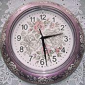 """Для дома и интерьера ручной работы. Ярмарка Мастеров - ручная работа Часы """"Розы в серебре"""". Handmade."""