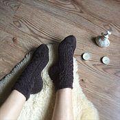 Аксессуары ручной работы. Ярмарка Мастеров - ручная работа Женские носочки Брауни. Handmade.