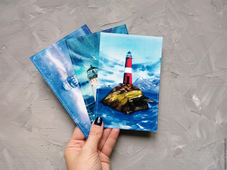 Девушек, набор почтовых открыток в упаковке