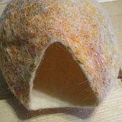 """Для домашних животных, ручной работы. Ярмарка Мастеров - ручная работа Валяный домик для крыски """"Теплая норка"""". Handmade."""