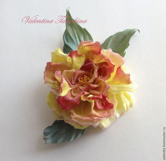 """Броши ручной работы. Ярмарка Мастеров - ручная работа. Купить цветок из шелка, брошь """"летняя фантазия2"""". Handmade. Комбинированный"""